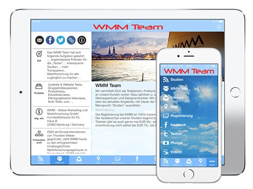 WMM Team Marketing und Marktforschung App